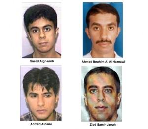 Os 4 terroristas pilotos do ataque no 11 de Setembro.