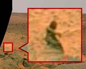 Possível extraterrestre em Marte.