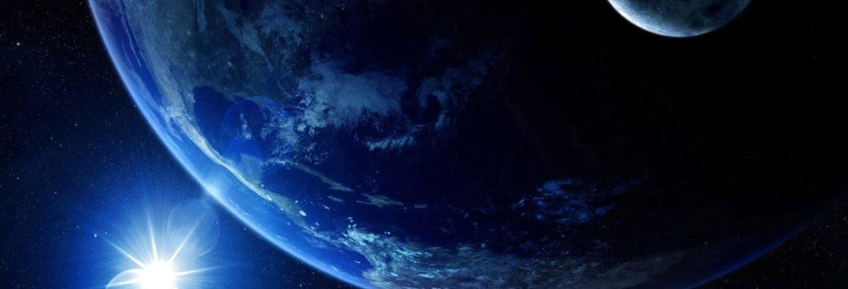 Planeta Terra e a Lua
