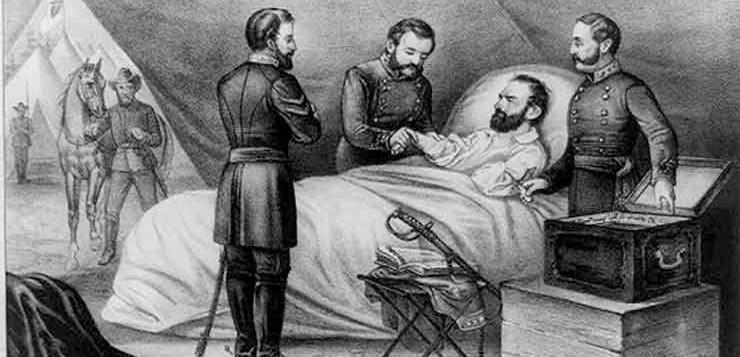 Na Guerra Civil que foi descoberto um novo procedimento para tratamento das feridas no peito.