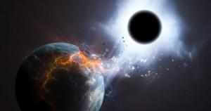 buraco negro engolindo terra