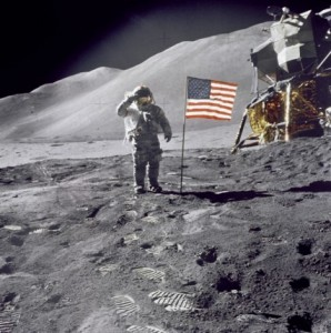 caminhando na lua