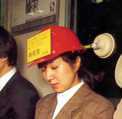 invencao japonesa chapeu domir metro