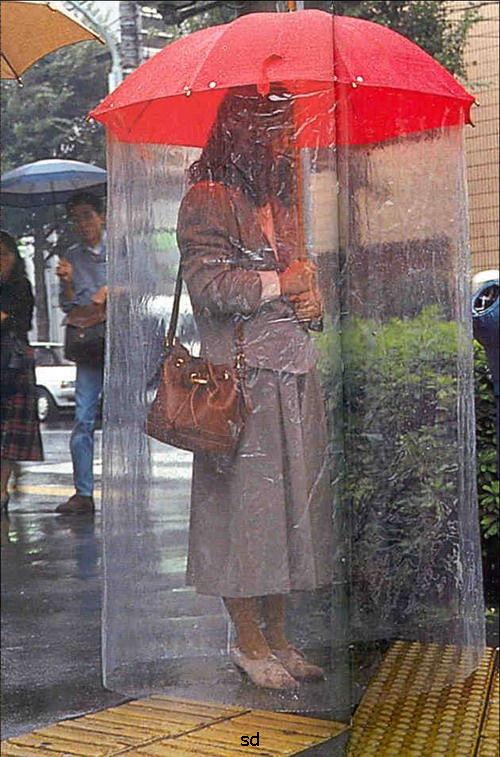 invencao japonesa guarda chuva tempestade forte