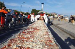 pizza-mais-comprida recordes de comidas gigantes