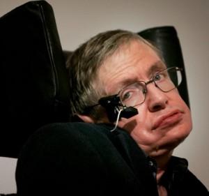 Stephen Hawking, físico teórico e cosmologista, vencedor do prêmio Nobel em 2013.