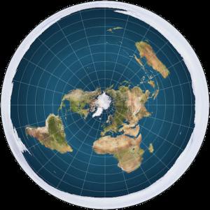 A teoria da Terra Plana desafia tudo que aprendemos sobre o universo e o nosso planeta. Esta foto é uma representação do disco que seria a Terra com o Polo Norte no centro.