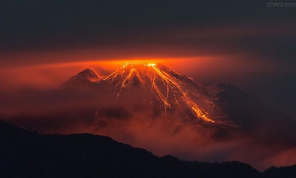 vulcão erupção