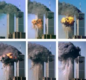O incêndio nos edifícios do World Trade Center foi causado pelo combustível e o atrito do impacto.
