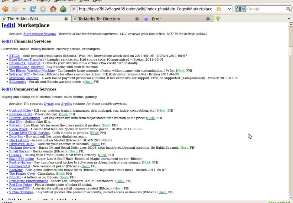 E para saber onde encontrar os sites que você procura, basta acessar a Hidden Wiki.