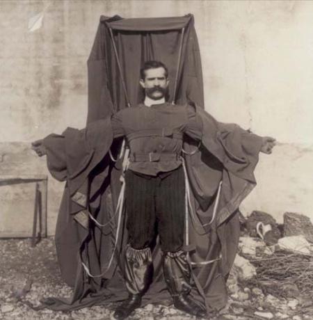 Franz Reichelt traje roupa para quedas torre eifel