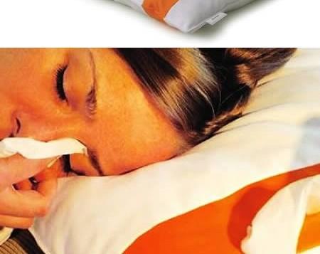 Travesseiro dispensa lenço