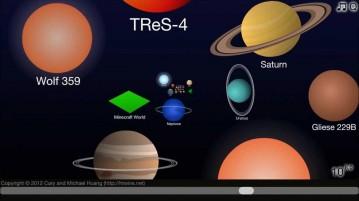 escala do universo