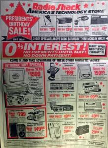 jornal radioshack anuncios
