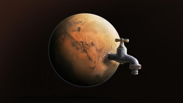 marte torneira agua planeta