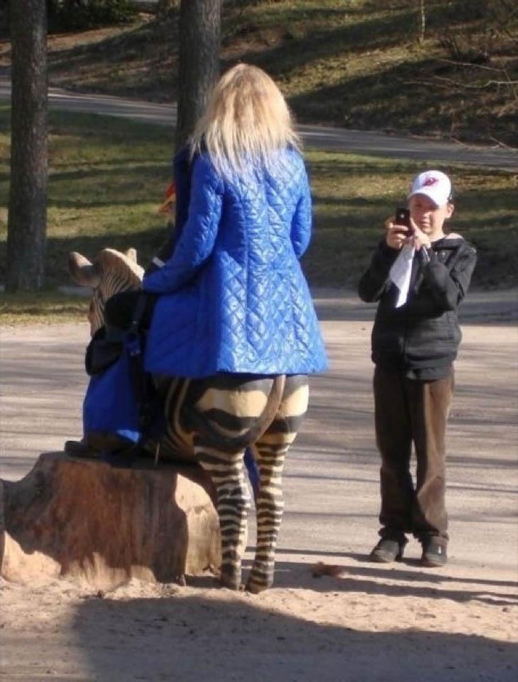 Mulher zebra