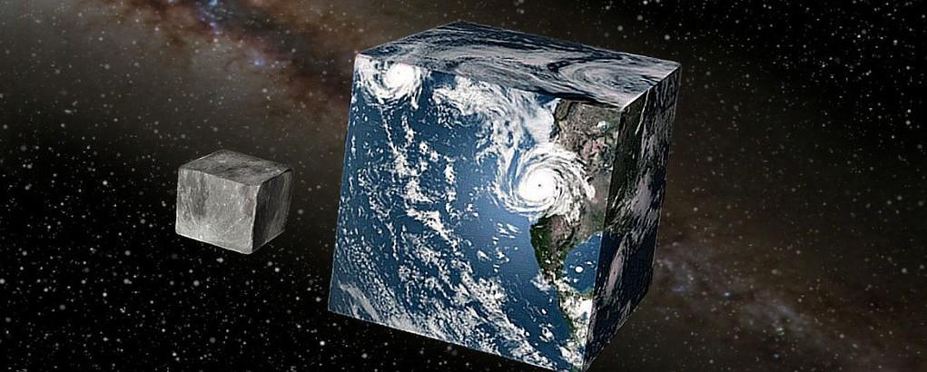 terra quadrada lua