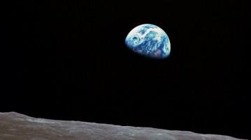 terra vista da lua