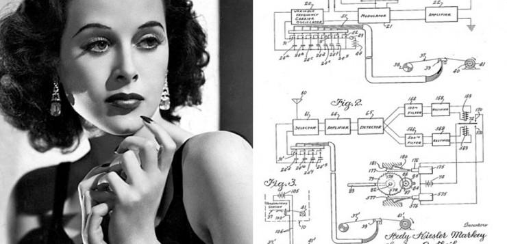 transmissor wireless sem fio Hedy Lamarr