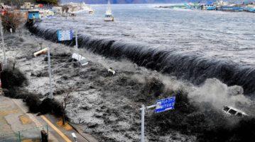 Tsunami no Japão em 2011.