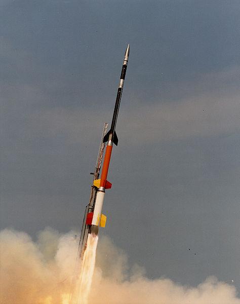 Foguete semelhante ao que estava a caminho de Moscou (Foto: Wikimedia)