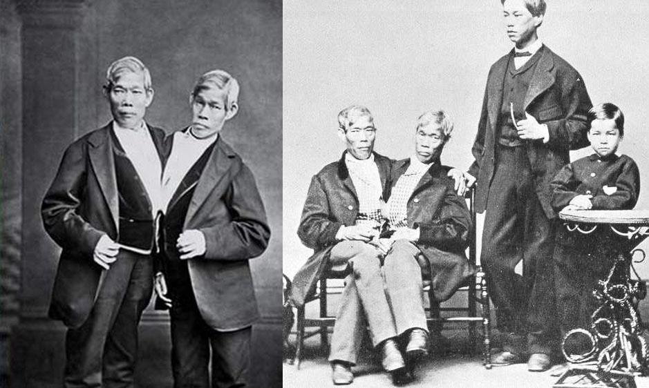 Eng e Chang Bunker se casaram com duas irmãs e tiveram vários filhos.