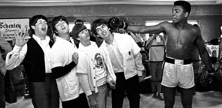 Muhammad Ali com os Beatles, em 1964