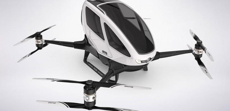 O Ehang 184 pode levar até 100kg e voar a quase 200 metros de altura por 23 minutos, a uma velocidade média de quase 100km/h.
