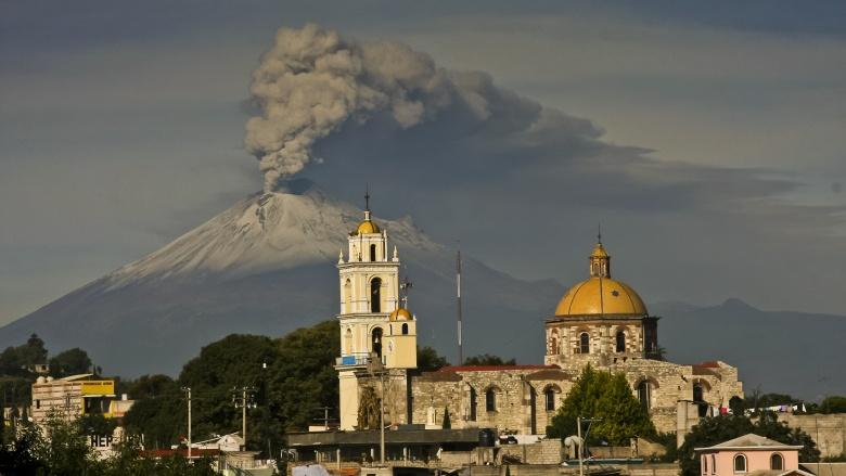 vulcão popocatepetl