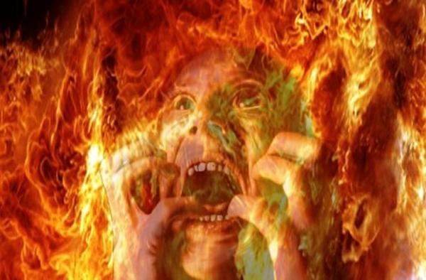 almas queimando no inferno