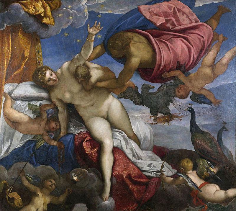 """""""A Origem da Via Láctea"""" por Jacopo Tintoretto (1575)."""