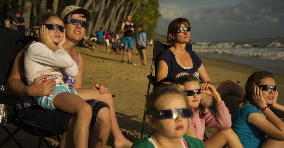 observando o eclipse