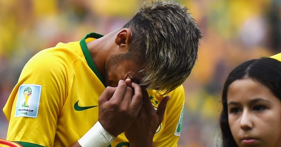 brasil neymar chorando