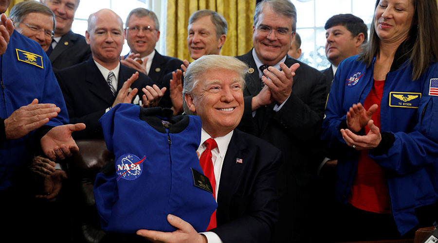 donald trump marte nasa