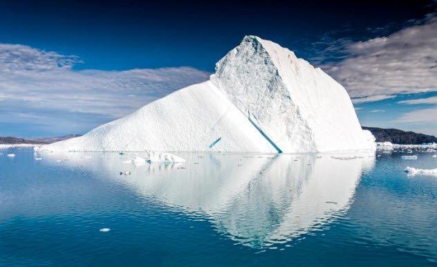 icebergs na terra