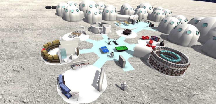 Colônia na Lua terá veículos, fábrica de oxigênio, instalações para impressão em 3D e lançamento de foguetes (Foto: André Carneiro / divulgação Facens)