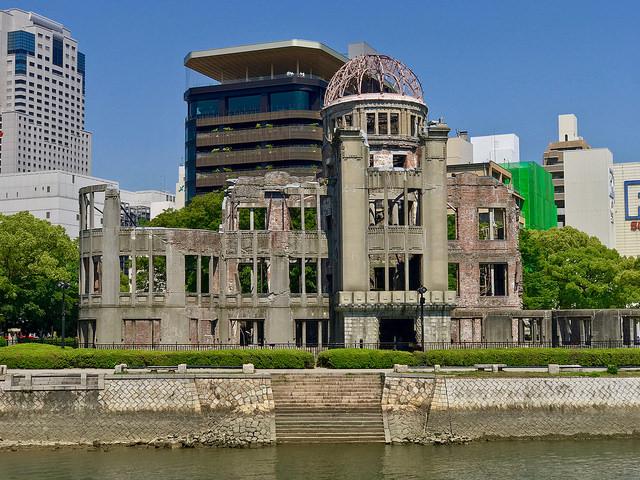 O Memorial da Paz de Hiroshima, que resistiu a explosão da bomba atômica na cidade japonesa.