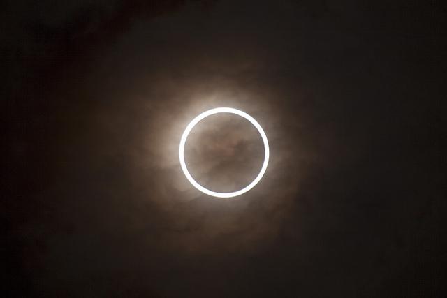 Exemplo de eclipse solar anular
