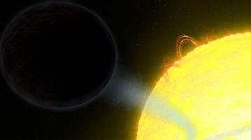 Hubble descobre planeta que parece um buraco-negro