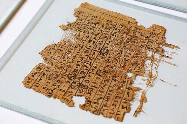 A folha de papiro encontrada em