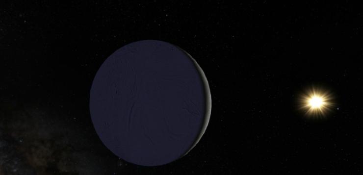 Encélado, lua de Saturno, vista pelo Google Maps
