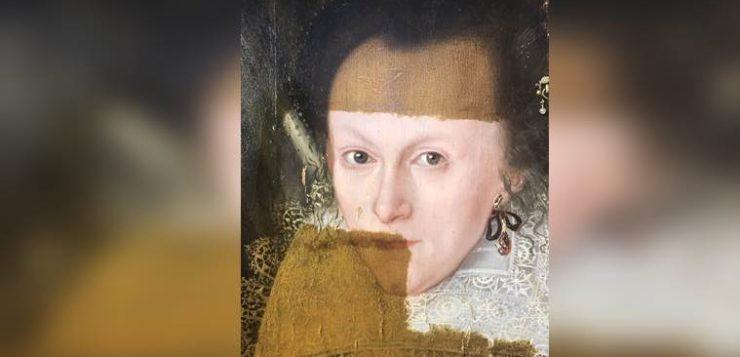 pintura restaurada século 17