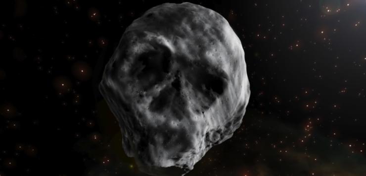 asteroide caveira halloween