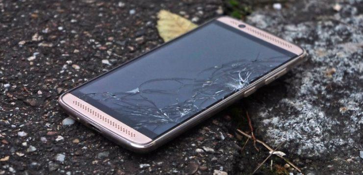 vidro celular quebrado