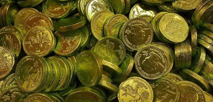 AN moedas cenográficas tesouro arqueológico