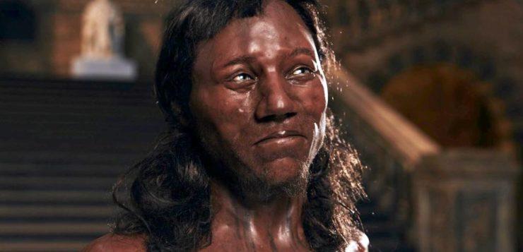 britânicos pele escura olhos azuis homem de cheddar