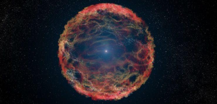 estrela-explosão supernova
