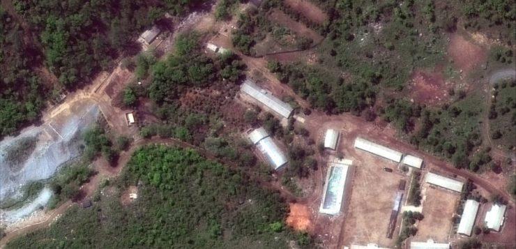 Coreia do Norte destrói campo de testes nucleares com explosões