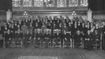 Dirigentes da Fifa reunidos no Congresso de 1928, em Amsterdam (Foto: Divulgação)