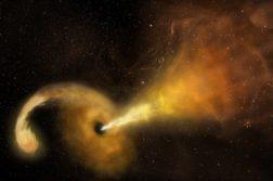 buraco negro engolindo estrela